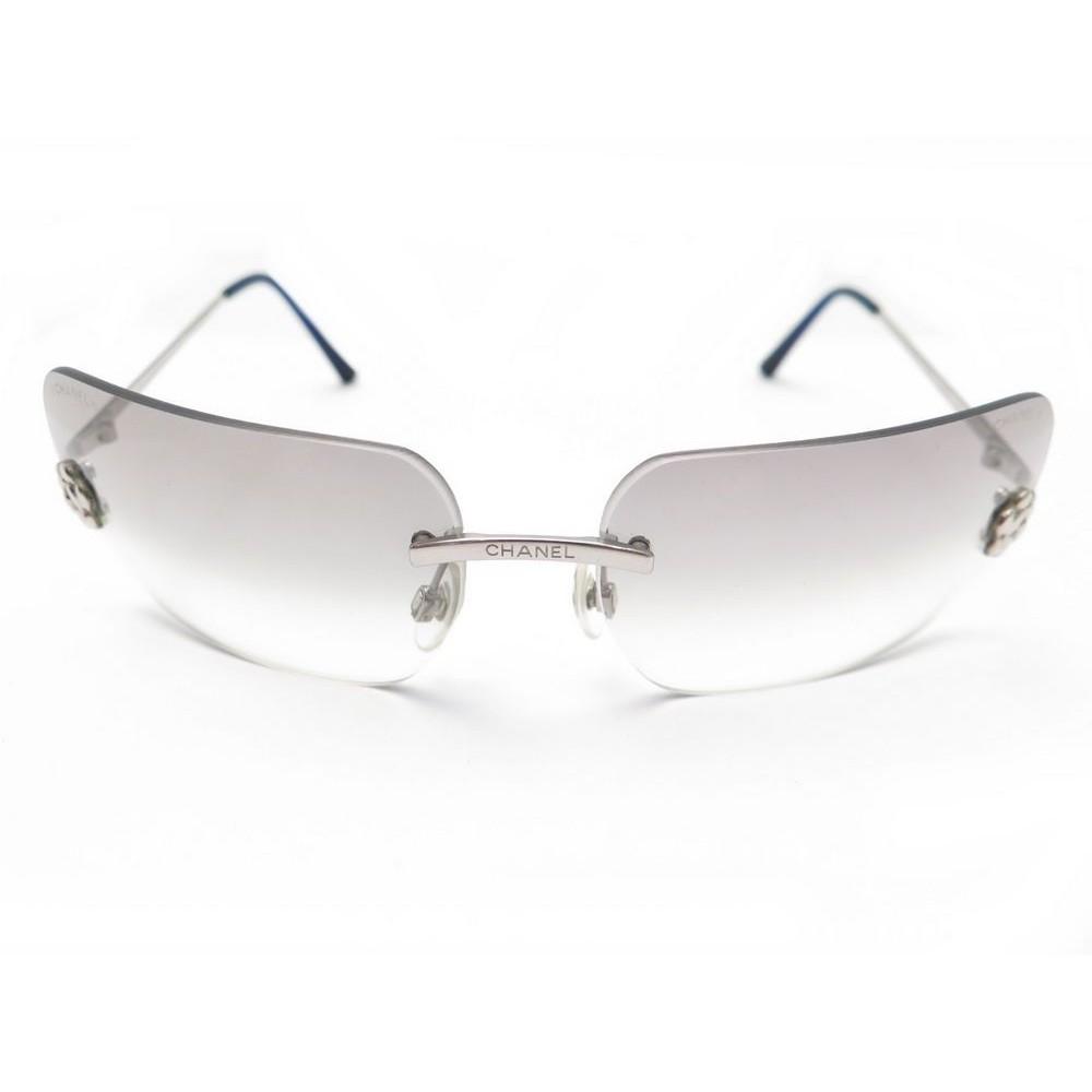 lunettes de soleil chanel 4085 en acier camelia femme 80ffb7b73034