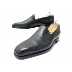 CHAUSSURES BERLUTI MOCASSINS 7 41 CUIR GRIS PATIN LEATHER LOAFERS SHOES 1750€