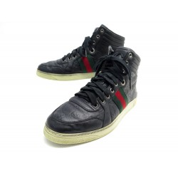 CHAUSSURES GUCCI BASKETS GG SIGNATURE HIGHTOP 221825 6 IT 41 CUIR SNEAKERS 650€