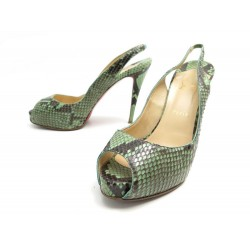 CHAUSSURES CHRISTIAN LOUBOUTIN SANDALES PRIVATE NUMBER 40.5 CUIR PYTHON 1550€