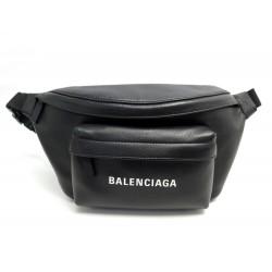 NEUF SACOCHE BALENCIAGA SAC CEINTURE EVERYDAY BANANE 552375 CUIR NOIR BAG 895€