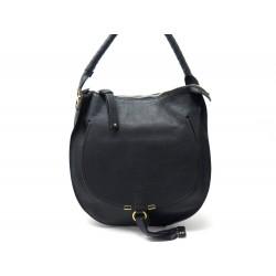 SAC A MAIN CHLOE MARCIE HOBO EN CUIR NOIR BLACK LEATHER HAND BAG PURSE 1350€