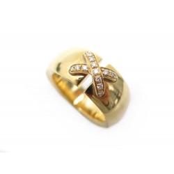 BAGUE CHAUMET LIENS CROISES T55 OR JAUNE 18K DIAMANTS GOLD DIAMONDS RING 5740€