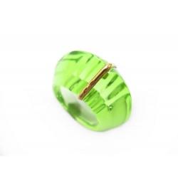 NEUF BAGUE BACCARAT 53 EN CRISTAL VERT + BOITE GREEN CRYSTAL RING 300€
