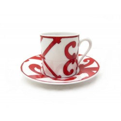 TASSE A CAFE ET SOUCOUPE HERMES BALCON DU GUADALQUIVIR P011017P PORCELAINE CUP