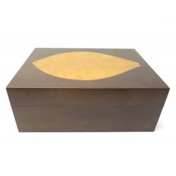 NEUF CAVE A CIGARES ZINO DAVIDOFF FEUILLE DE TABAC EN BOIS MARRON CIGAR BOX 690€