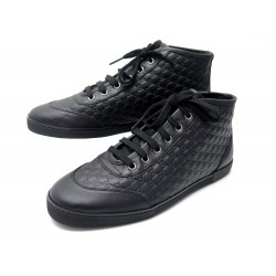 NEUF CHAUSSURES GUCCI GUCCISSIMA HI TOP SNEAKERS 391499 38.5 BASKETS CUIR 550€