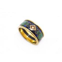 NEUF BAGUE MICHAELA FREY FREYWILLE MISS SCARABEE 53 EMAIL & PLAQUE OR RING 365€