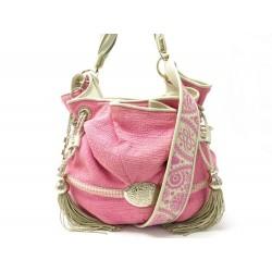SAC A MAIN LANCEL BRIGITTE BARDOT BB A04657 BANDOULIERE TOILE ROSE HAND BAG 890€