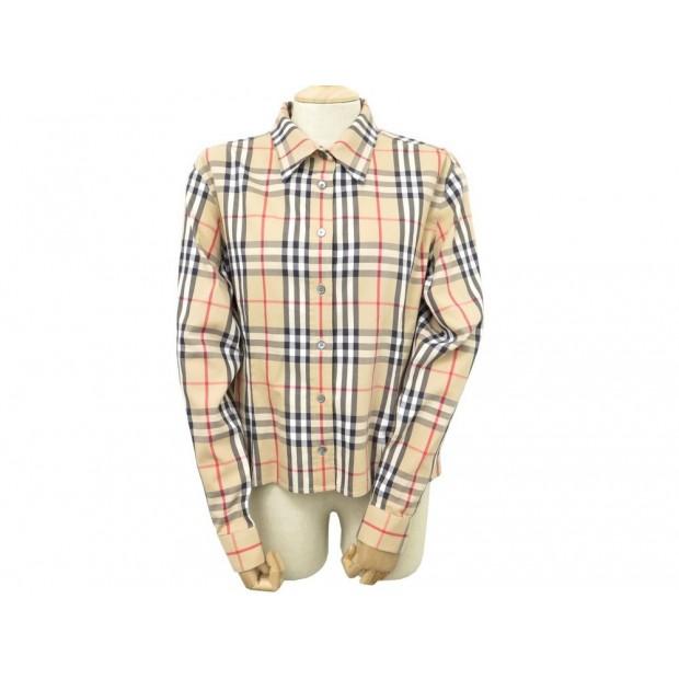 chemise burberry ptsomtec52gui l 42 haut femme coton c0a6a22a8501
