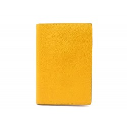 NEUF COUVERTURE AGENDA HERMES SIMPLE PM EN CUIR EPSOM JAUNE NEW DIARY COVER 269€