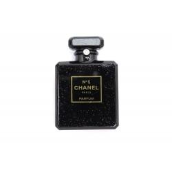 BROCHE CHANEL BOUTEILLE PARFUM NUMERO 5 EN RESINE NOIR BLACK RESIN BROOCH 720€