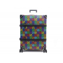 NEUF VALISE GUCCI TROLLEY GLOBE TROTTER M TOILE GG PSYCHEDELIC SUITCASE 2980€