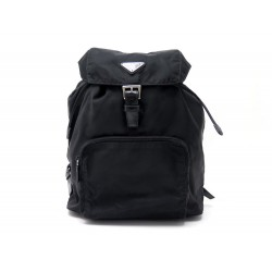 NEUF SAC A DOS PRADA EN NYLON NOIR NEW BLACK BACKPACK BAG 1200€