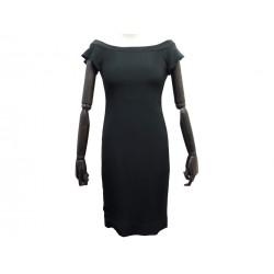 NEUF ROBE VALENTINO S 36 4 EN ACETATE & SOIE NOIR BLACK SILK NEW DRESS 2100€