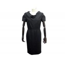 ROBE COURTE VALENTINO 44 IT M 40 FR EN LAINE NOIR BLACK WOOL DRESS 2100€