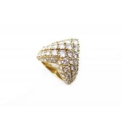 BAGUE CARTIER SYMPHONIE 1985 T51 OR JAUNE 18K 59 DIAMANTS 4CT GOLD DIAMONDS RING