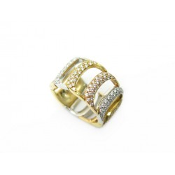 BAGUE DAMIANI DAMIANISSIMA 3 ORS & DIAMANTS 1.5CT T54 14.3GR DIAMONDS RING 6700€