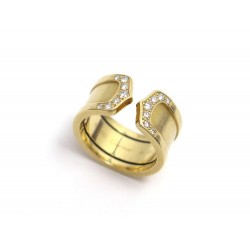 BAGUE CARTIER DOUBLE C T51 OR JAUNE 18K & DIAMANTS 12GR DIAMONDS RING 4300€