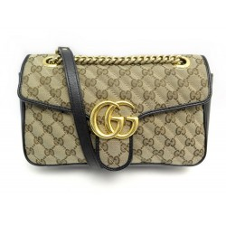 SAC A MAIN GUCCI MARMONT 443497 TOILE GG MONOGRAMME MATELASSEE BANDOULIERE 1650€