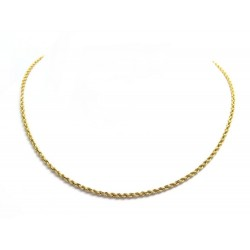 NEUF COLLIER 52 CM EN OR JAUNE 18K 7.3 GR MAILLE TORSADEE YELLOW GOLD NECKLACE