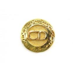 BROCHE CHRISTIAN DIOR INITIALES CD EN METAL DORE GOLDEN BROOCH 420€