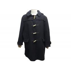 MANTEAU BURBERRY'S DUFFLE COAT T 54 REG L EN LAINE BLEU BLOUSON WOOL LONG 1350€