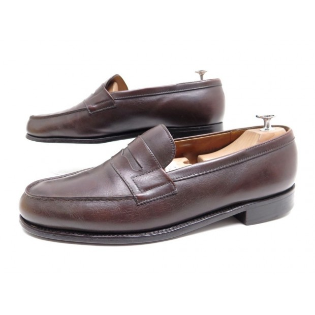 CHAUSSURES MOCASSINS JM WESTON 180 7.5 41.5 CUIR MARRON