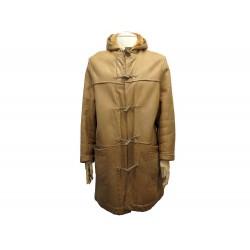 MANTEAU HERMES DUFFLE COAT 54 L EN CUIR AGNEAU RETOURNE SHEARLING LEATHER 9300€