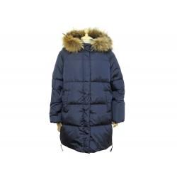 NEUF MANTEAU MAX MARA WEEKEND DOUDOUNE LONGUE XL 46 EN NYLON BLEU NEW COAT 570€