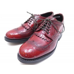 NEUF CHAUSSURES HESCHUNG DERBY GWEN 36.5 4 EN CUIR VERNIS ROUGE NEW SHOES 420€