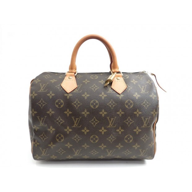 SAC A MAIN LOUIS VUITTON SPEEDY 30 CABAS TOILE MONOGRAM LV HAND BAG PURSE 760€