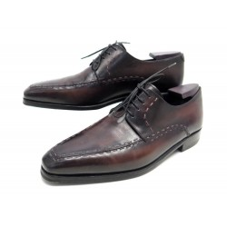 CHAUSSURES BERLUTI 8 42 DERBY CIRCATRICES CUIR VIOLET + EMBAUCHOIRS SHOES 1825€