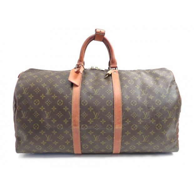 VINTAGE SAC DE VOYAGE A MAIN LOUIS VUITTON KEEPALL 55 MONOGRAM LV BAG 1030€