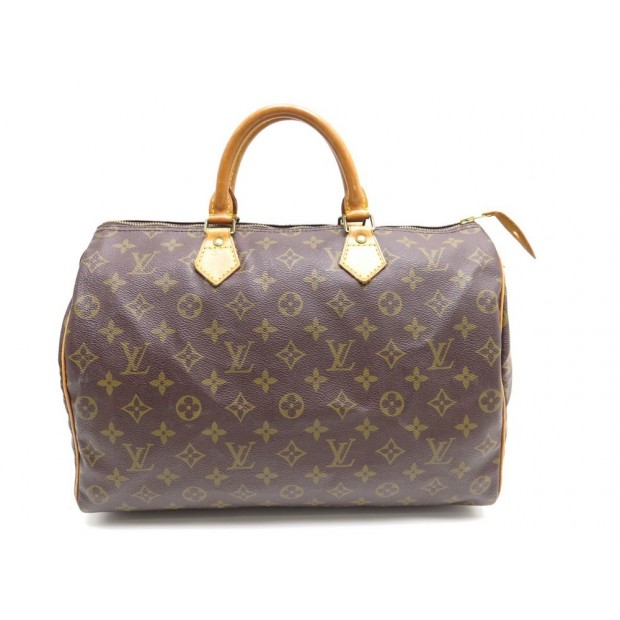VINTAGE SAC A MAIN LOUIS VUITTON TOILE MONOGRAMME 35