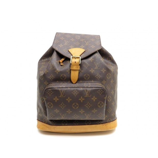 1aa14edec6c ... à dos Louis Vuitton Montsouris Backpack en toile monogram et cuir  naturel Sacs ...