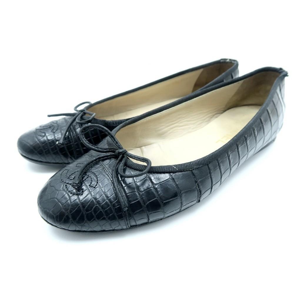 36623a4703c chaussures chanel ballerines logo cc g02819 38 cuir