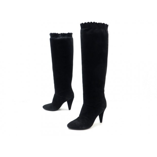 CHAUSSURES MARC BY MARC JACOBS KANGAROO 694947 38 BOTTES EN DAIM NOIR BOOTS 460€