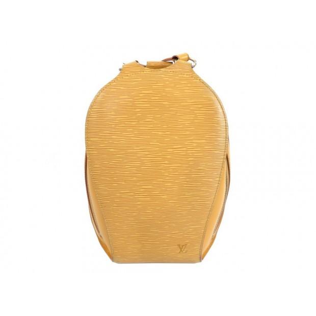 SAC A DOS MAIN LOUIS VUITTON MABILLON EN CUIR EPI JAUNE HAND BAG PURSE 1310€