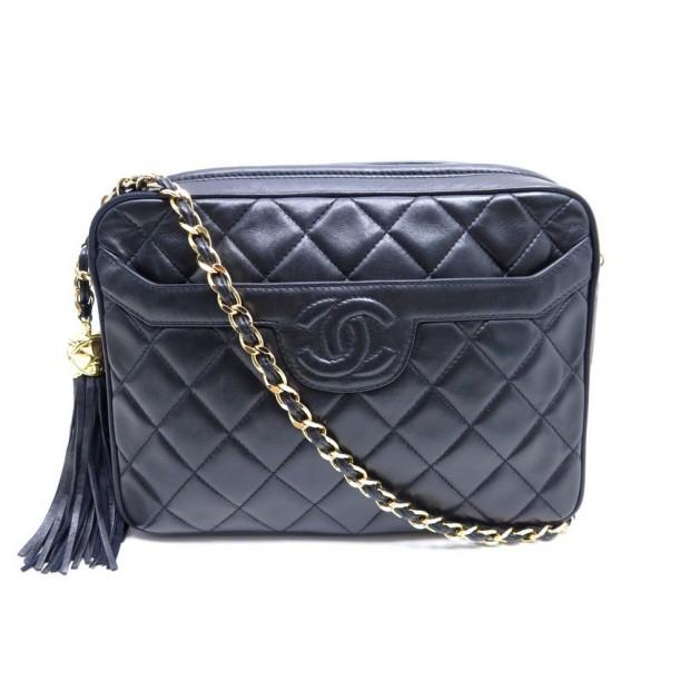 sac a main chanel camera bandouliere cuir noir 61b46727a7a