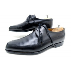 CHAUSSURES JOHN LOBB HURTWOOD DERBY 2 OEILLETS 10E 44 EN CUIR NOIR SHOES 1370€