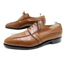 NEUF CHAUSSURES JOHN LOBB MILAN 10EE 44 LARGE CUIR PATINE MARRON SAC SHOES 1370€