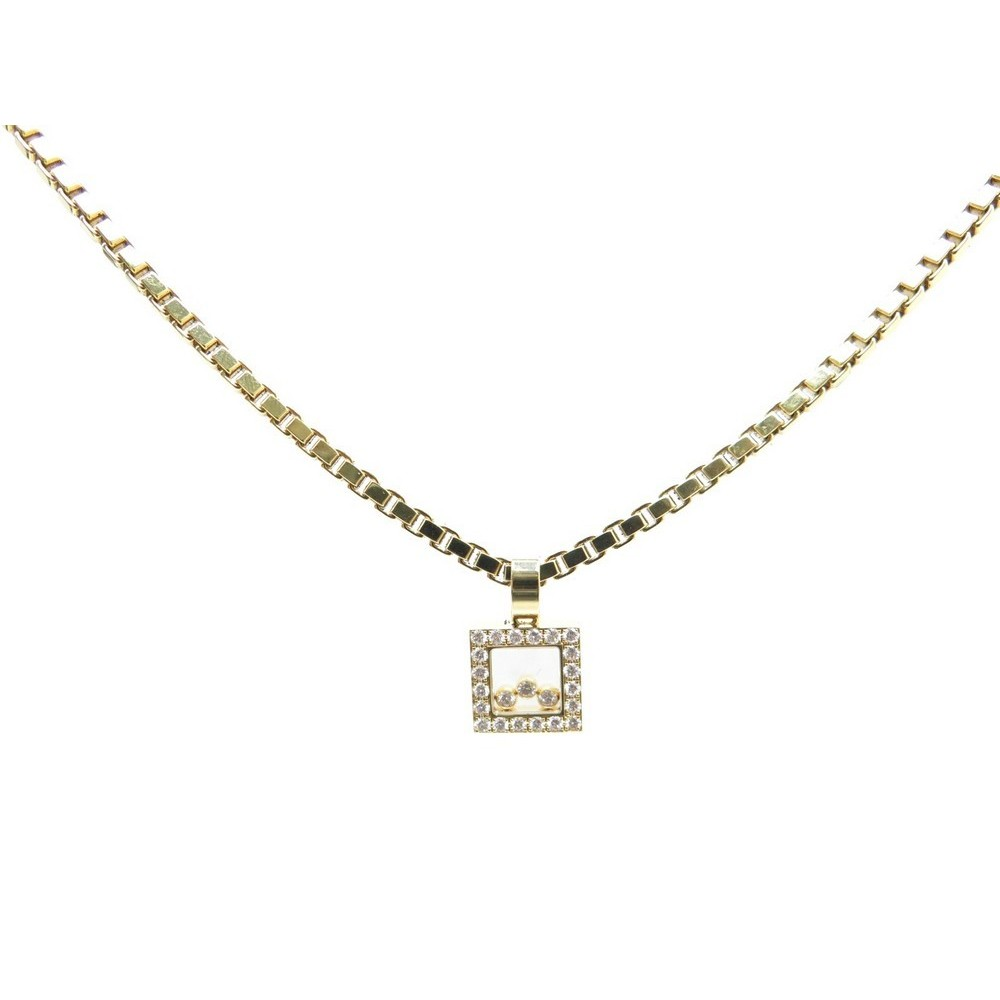 collier diamant carre