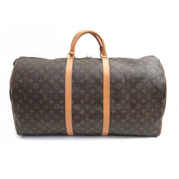 SAC DE VOYAGE A MAIN LOUIS VUITTON KEEPALL 60 TOILE MONOGRAM LV TRAVEL BAG 1050€