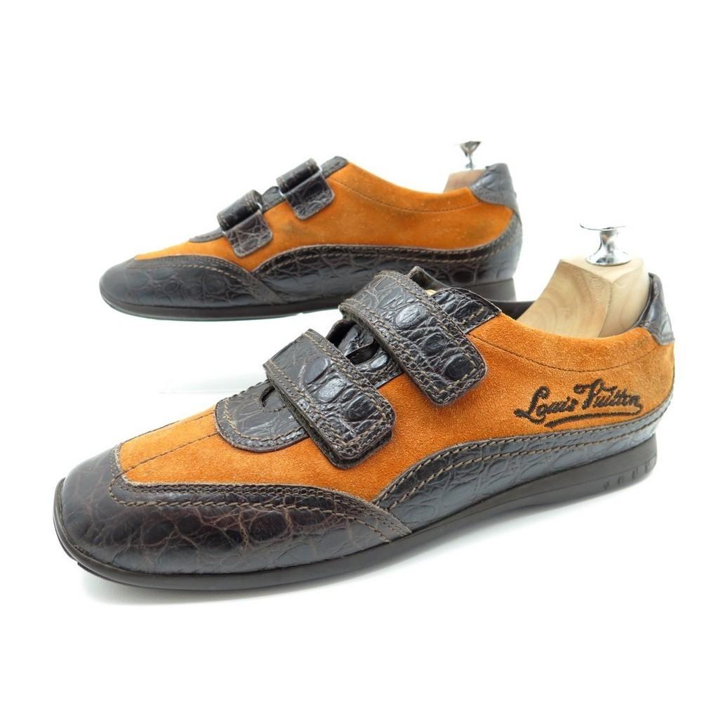 nouveau style 30e26 81cc5 chaussures louis vuitton sneakers baskets 40 daim cuir