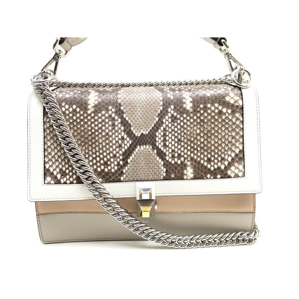 ee1c6dfc79f7 NEUF SAC A MAIN FENDI KAN I 8BT283 CUIR PYTHON BANDOULIERE HAND BAG PURSE  2700€. Loading zoom