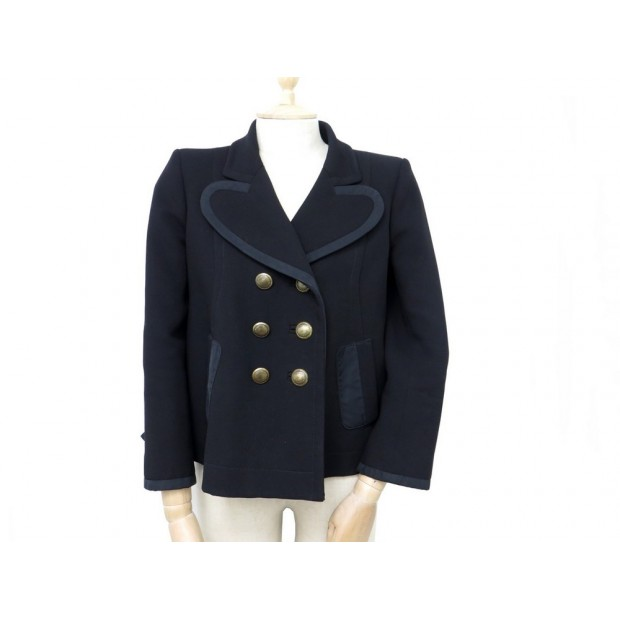 uk availability latest discount good texture veste louis vuitton 38 m femme en laine noir black