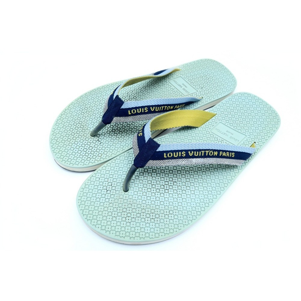nouveaux produits pour pas cher produits de commodité chaussures louis vuitton sandales tong 43 bleu en
