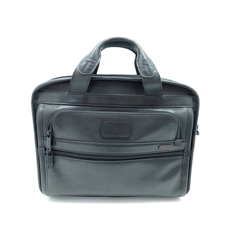 71398e7613fd SAC A MAIN TUMI SACOCHE RANGE PORTE DOCUMENTS PC EN CUIR NOIR CARTABLE  415€. Loading zoom
