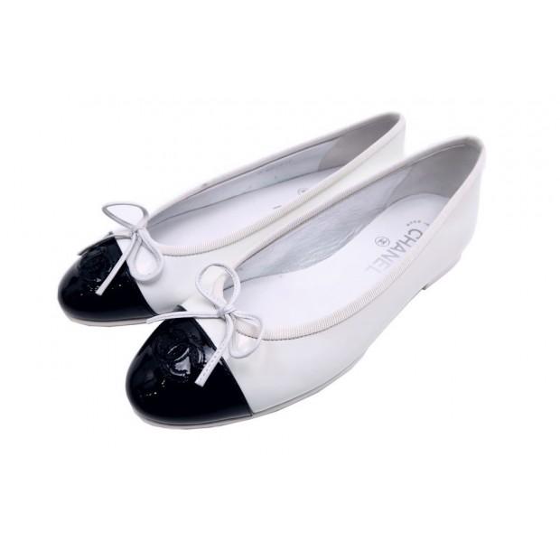 4bdcbc0d277 chaussures chanel ballerines 37 g02819 en cuir